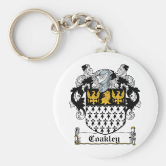 Coakley Family Crest Basic Round Button Key Ring