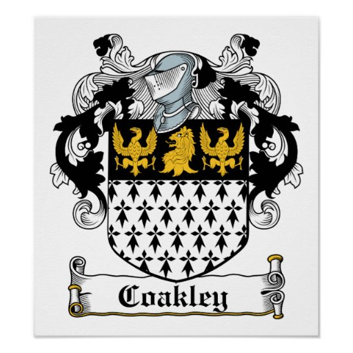 Coakley Family Crest Posters