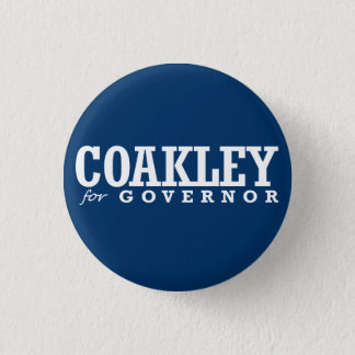 COAKLEY FOR GOVERNOR 2014 3 CM ROUND BADGE