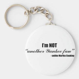 Coakley Yankee Fan Basic Round Button Key Ring