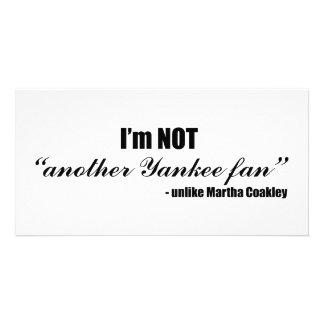Coakley Yankee Fan Photo Card