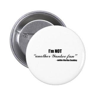 Coakley Yankee Fan Pinback Button