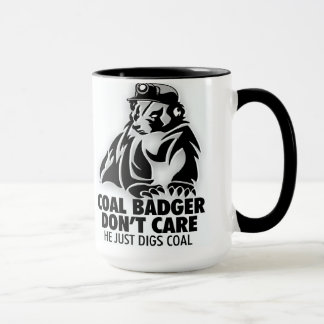 COAL BADGER MUG