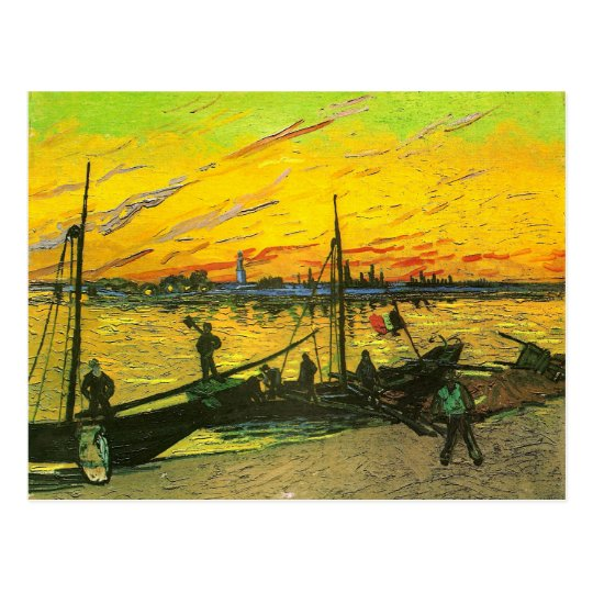 Coal Barges Van Gogh Fine Art Postcard