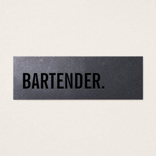 Coal Black Bartender Mini Business Card