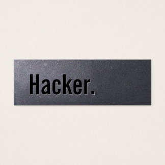 Coal Black Hacker Mini Business Card