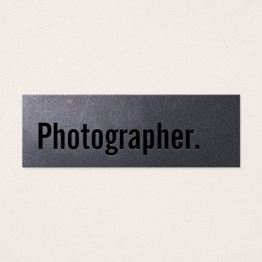 Coal Black Photographer Mini Business Card
