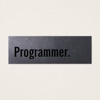 Coal Black Programmer Mini Business Card
