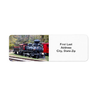 Coal Engine Train Return Address Label
