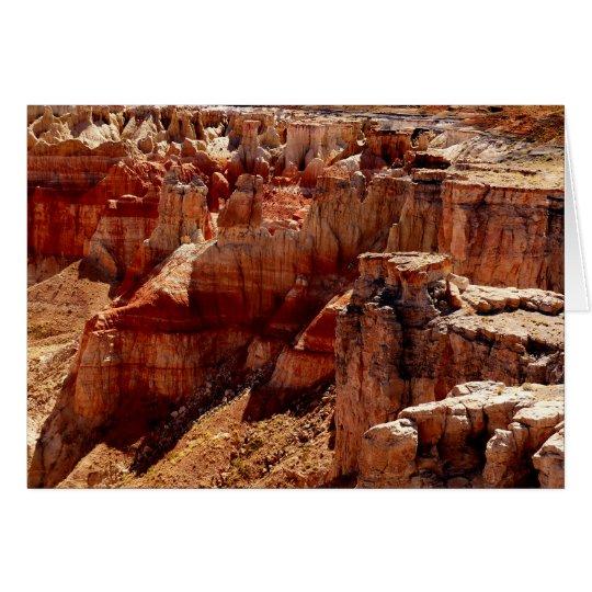 Coal Mine Canyon Blank Greeting Card