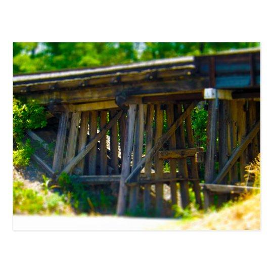 Coal Mine Road Train Bridge Kansas City Postcard