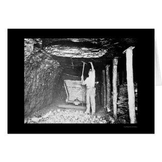 Coal Miner 1910 Greeting Card