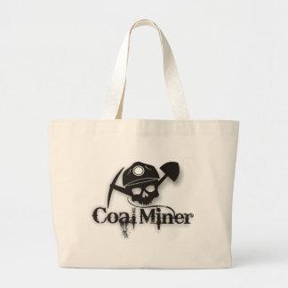 coal miner large tote bag