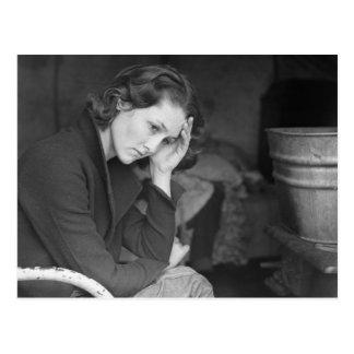 Coal miner's daughter – 1936. postcards