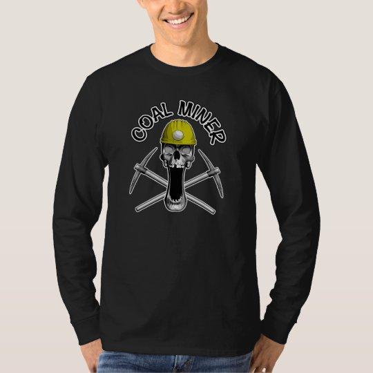 Coal Miner Skull T-Shirt