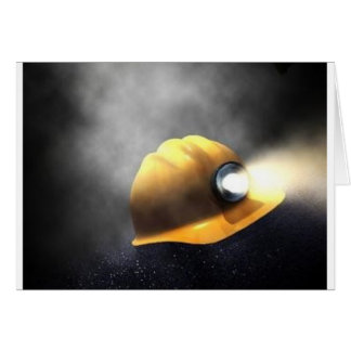 coal miners hat greeting card