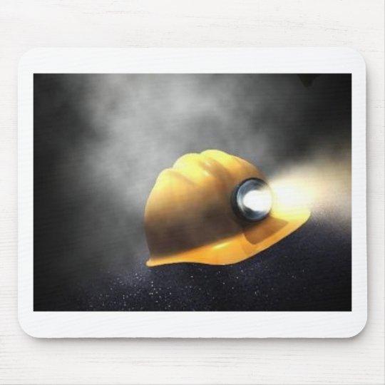 coal miners hat mouse mat