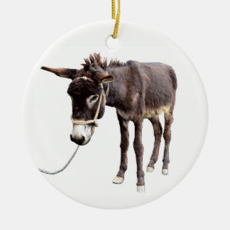 Coal Miner's Mule Christmas Ornament