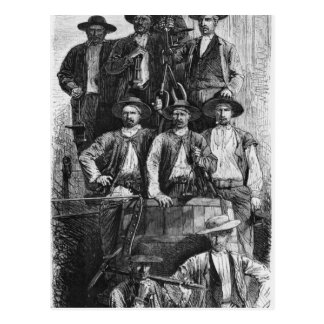 Coal Miners of Le Creusot during the Second Postcard