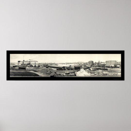 Coal Oil Puerto Rico Photo 1919 Poster