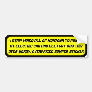 Coal powered electric car ... bumper sticker