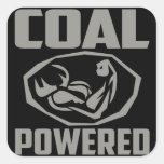 COAL POWERED SQUARE STICKER