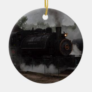 Coal Steam Train Round Ceramic Decoration
