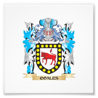 Coales Coat of Arms - Family Crest Photo Print