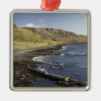 Coast at Duntulm, Isle of Skye, Scotland, United Silver-Colored Square Decoration