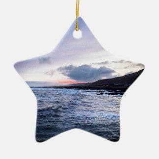 Coast at Night Ceramic Star Decoration