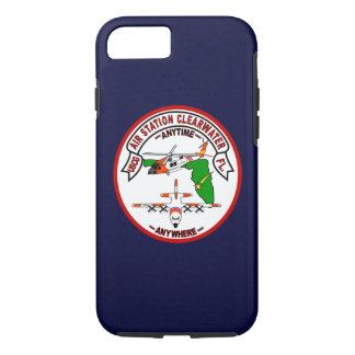 """Coast Guard Air Station Clearwater """"Navy Blue"""" iPhone 7 Case"""