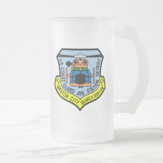 Coast Guard Air Station Detroit Frosted Glass Mug