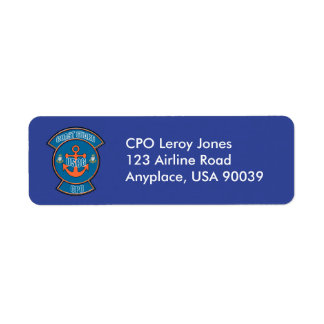 Coast Guard Anchor CPO Return Address Label