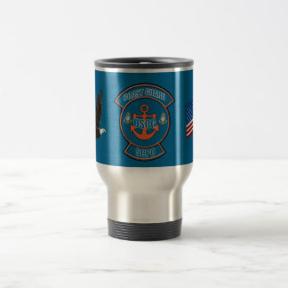 Coast Guard Anchor SCPO Stainless Steel Travel Mug