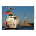 Coast Guard and the Liberty Statue Cards