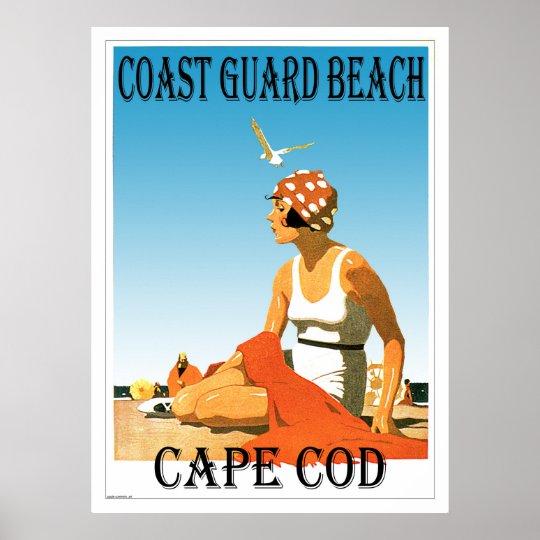 Coast Guard Beach Cape Cod Retro Poster