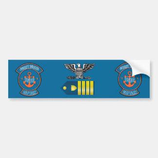 Coast Guard Captain Anchor Emblem Bumper Sticker