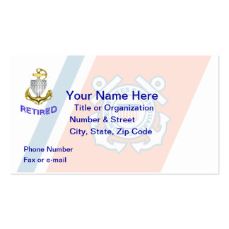 Coast Guard Chief Retired Business Card