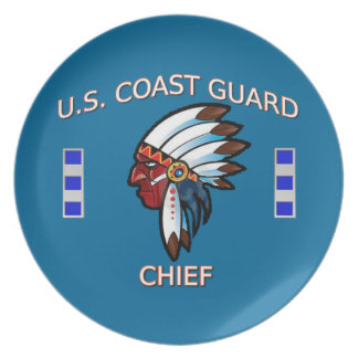 Coast Guard Chief Warrant Officer 4 Dinner Plate