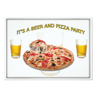 Coast Guard CPO Beer and Pizza Party Invitation