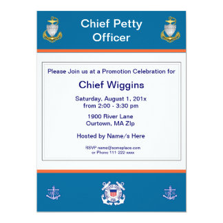 Coast Guard CPO Promotion Invitation