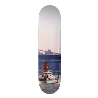 Coast Guard Cutter Near Brooklyn Bridge Custom Skate Board