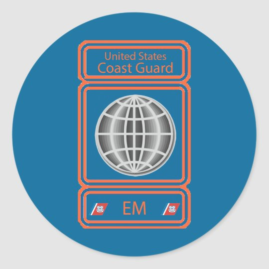 Coast Guard Electrician's Mate Classic Round Sticker