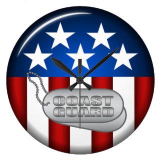 Coast Guard Emblem Seal Insignia Logo Design #1 Wall Clock