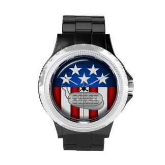 Coast Guard Emblem Seal Insignia Logo Design #1 Wrist Watch