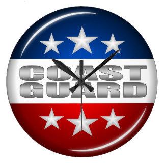 Coast Guard Emblem Seal Insignia Logo Design #2 Wall Clocks