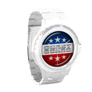 Coast Guard Emblem Seal Insignia Logo Design #2 Wristwatch