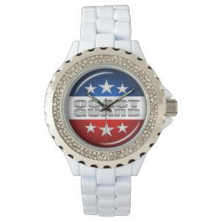 Coast Guard Emblem Seal Insignia Logo Design #2 Wrist Watches