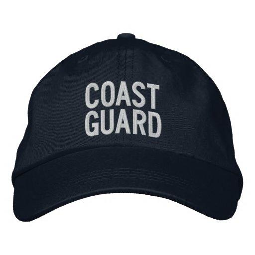 COAST GUARD EMBROIDERED BASEBALL CAP