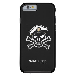 Coast Guard Enlisted Scull & Crossbones Tough iPhone 6 Case